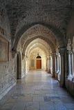 De kerk van de overwelfde galerijgeboorte van christus, Bethlehem stock foto