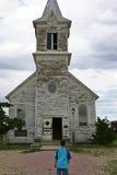 De Kerk van de spookstad Royalty-vrije Stock Foto