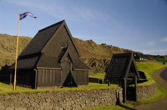 De kerk van de staaf op Heimaey, IJsland Royalty-vrije Stock Fotografie
