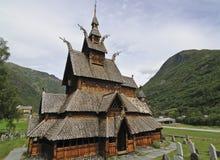 De Kerk van de Staaf van Borgund stock afbeelding