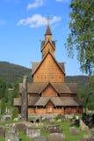 De Kerk van de Staaf van Heddal in Noorwegen Stock Fotografie