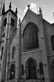 De Kerk van de stad stock afbeelding