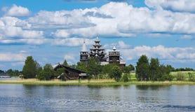 De Kerk van de Transfiguratie van Kizhi, Rusland royalty-vrije stock foto
