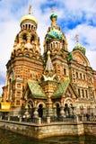 De kerk van de Verlosser op Gemorst Bloed Royalty-vrije Stock Foto