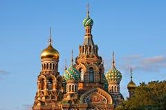 De kerk van de Verlosser op Gemorst Bloed royalty-vrije stock afbeeldingen