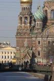 De kerk van de Verlosser op Gemorst Bloed. Stock Afbeelding