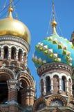 De Kerk van de Verlosser op Gemorst Bloed, Heilige Petersburg Stock Foto's