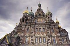 De Kerk van de Verlosser op Gemorst Bloed - St. Petersburg, Rusland Stock Foto