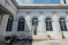 De Kerk van de Veronderstelling werd opgericht in 1786, wordt het gevestigd in Farquhar-Straat, George Town Royalty-vrije Stock Fotografie