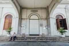 De Kerk van de Veronderstelling werd opgericht in 1786, wordt het gevestigd in Farquhar-Straat, George Town Stock Afbeeldingen
