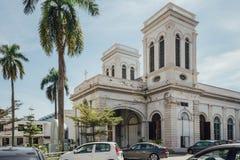 De Kerk van de Veronderstelling werd opgericht in 1786, wordt het gevestigd in Farquhar-Straat, George Town Royalty-vrije Stock Afbeelding