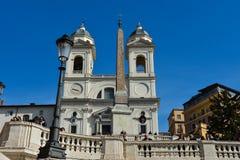 De kerk van dei Monti van Santissima Trinita Royalty-vrije Stock Afbeelding