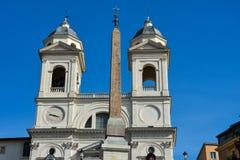 De kerk van dei Monti van Santissima Trinita Royalty-vrije Stock Fotografie
