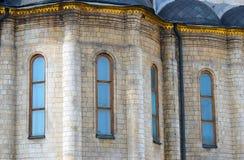 De Kerk van Dormition Moskou het Kremlin De Plaats van de Erfenis van de Wereld van Unesco Stock Afbeelding