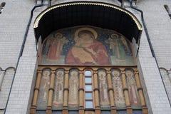 De Kerk van Dormition Moskou het Kremlin Unesco-erfenis stock afbeelding