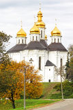 De kerk van Ekateriniska in Chernigov, de Oekraïne stock foto