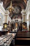 De kerk van Franciscans in Ljubljana, Slovenië Royalty-vrije Stock Afbeelding