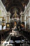 De kerk van Franciscans in Ljubljana, Slovenië Royalty-vrije Stock Afbeeldingen