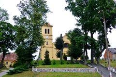 De kerk van gaski, gonsken, hertogkerken stock foto's