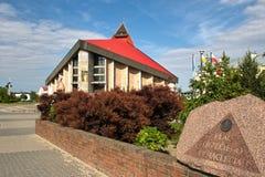 De Kerk van Gdansk Zaspa. Stock Foto's