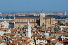 De kerk van Giovanni e Paolo van Santi, Venetië Stock Foto