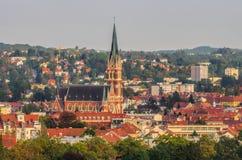 De Kerk van Graz van het Heilige Hart van Jesus Stock Fotografie