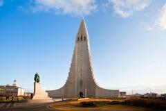 De kerk van Hallgrimskirkja in Reykjavik, IJsland Stock Afbeelding