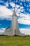 De kerk van Hallgrimskirkja in Reykjavik, IJsland Stock Foto