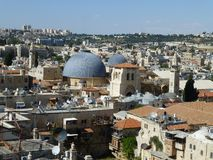 De kerk van Heilig begraaft in Jeruzalem royalty-vrije stock fotografie