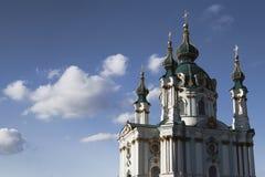 De Kerk van heilige Andrew in Kiev stock afbeelding
