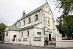 De kerk van heilige Andrew in Leczyca, Polen Royalty-vrije Stock Afbeeldingen