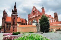 De Kerk van heilige Anna, Vilnius Stock Afbeelding