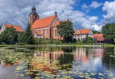 De kerk van heilige Anne in Barczewo stock fotografie