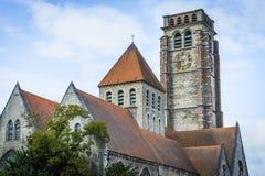 De Kerk van heilige Brise in Tournai, België stock afbeeldingen