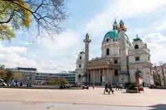 De Kerk van heilige Charles (Worstje Karlskirche) Royalty-vrije Stock Fotografie