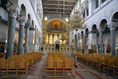 De Kerk van Heilige Demetrius of Hagios Demetrios, Thessaloniki Stock Fotografie