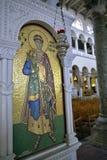 De Kerk van Heilige Demetrius Thessaloniki - mozaïekdetail royalty-vrije stock afbeeldingen