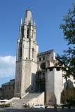 De kerk van Heilige Feliu in stad Gerona Stock Fotografie