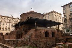 De kerk van heilige George in Sofia, Bulgarije Stock Fotografie