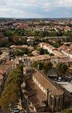 De Kerk van heilige Gimer in Carcassonne Stock Afbeeldingen