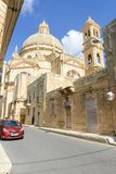 De Kerk van Heilige John Doopsgezind op Gozo-eiland, Malta royalty-vrije stock foto's