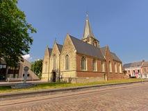 De kerk van heilige Macharius in Laarne, België Royalty-vrije Stock Afbeeldingen