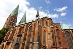 De kerk van heilige Mary in Lübeck Royalty-vrije Stock Foto's