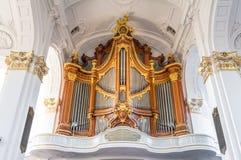 De Kerk van heilige Michael's in Hamburg Stock Foto