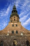 De Kerk van heilige Peters bij de Oude Stad van Riga - Letland Royalty-vrije Stock Fotografie