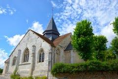 De Kerk van heilige Redegund in Giverny, Frankrijk stock afbeeldingen