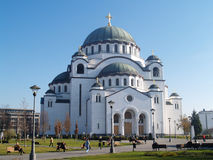 De Kerk van heilige Sava Stock Foto's