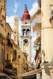 De kerk van heilige Spiridion, de Stad van Korfu, Griekenland Stock Afbeelding
