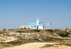 De Kerk van Heilige Thecla op de Middellandse Zee in Ayia NAPA Royalty-vrije Stock Foto
