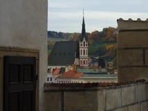 De kerk van heilige Vitus in Cesky Krumlov Royalty-vrije Stock Afbeeldingen